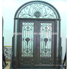 Exterior doors security iron grill doors wrought iron door