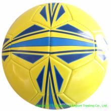 Yellow Color PVC /PU / TPU Machine Stitched Soccer