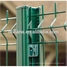 Curvy welded wire mesh fence with 3 folds welded wire mesh fence