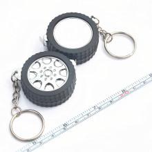 Мини-брелок для ключей, стальная рулетка