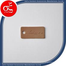 Etiqueta de couro de Brown do logotipo do tipo do preço de fábrica / etiqueta / etiqueta de couro do plutônio