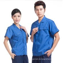 Fabrik produzieren professionelle Frauen und Männer Arbeit Kleidung Uniform