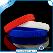 Silicone Jewelry Main Material and Unisex Gender Rubber Wristband