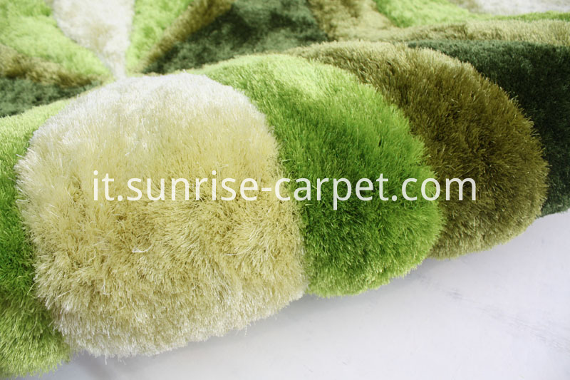 150D polyester Silk Hand Tufted Carpet