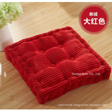 Seat Cushon Corduroy Floor Cushion with Buttons (C14108-1)