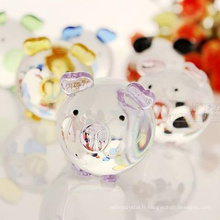 ornements décoratifs en verre clair