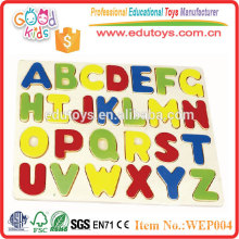 2015 New Wooden Capital Letter Puzzle, Hot Sale Colorful Capital Letter Puzzle