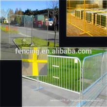 Painel de cerca provisória galvanizada branca da tubulação da alta qualidade / painéis soldados cerca provisórios da cerca do metal para a venda (preço de fábrica)