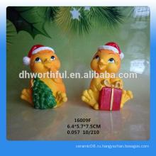 Фабрика непосредственно Рождественский подарок окрашены смолы статуэтки