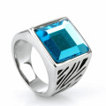 Titanium Steel Signet Diamond finger Ring