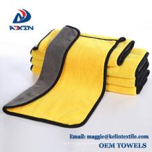 Tissu de nettoyage de serviette de nettoyage de Microfiber de molleton de corail pour le nettoyage de voiture