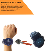 GPS Anti-Dismantle Watch voor Prisoners / Kids / Elers