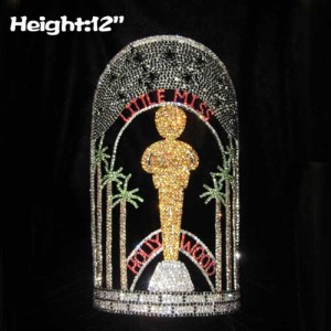 12in Height Custom Oscar Hollywood Movie Star Pageant Crowns
