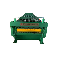 Double deck corrugated and trapezoidal roll forming machine