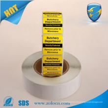 EAS rf soft label 8.2Mhz para etiqueta de supermercado / anti roubo