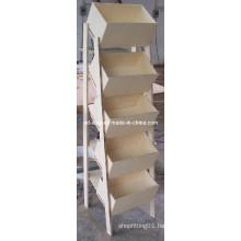 Customized MDF Floor Literature Leaflets Rack