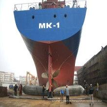 Usado para a salvação do navio naufrágio, os airbags de borracha de salvamento do navio