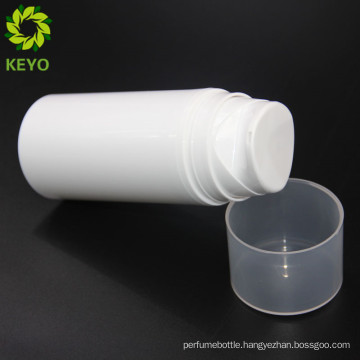 Plastic material and PP plastic type cosmetic 100ml 4oz airless pump bottle