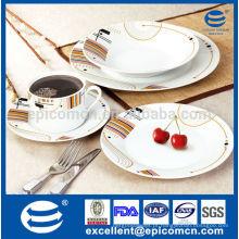 China fabricante 2014 novos conjuntos de jantar de design, louça de porcelana jantar conjuntos preços, conjuntos de jantar de cerâmica