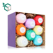 2018 factory price romantic bottle packing bath bombs paper box