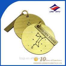 Золотой цвет дизайн wiredrawing круглый лазера магазине бирка собаки