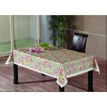 PVC-geprägte Tischdecke mit Flanell-Unterstützung (TJG0004)