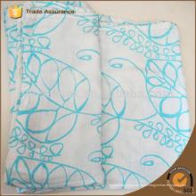 Big green leafs pattern bébé bambou fibre mousseline couverture enveloppe Swaddle 120 * 120cm unisex swaddle bébé