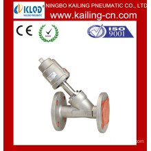 Flange end pneumatic Angle seat valve / Pneumatic Control Valve