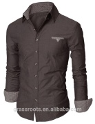Business Mens Shirt Hot Sale Mens Shirts Outer Wear Latest Design Shirts for Men