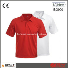 OEM court Mens coton blanc Polo manches