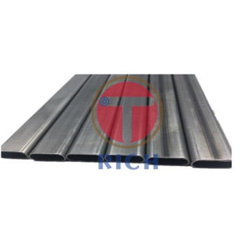 Q235 25*10*1mm Welded Flat Oval Steel Tubing