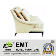Высокий класс Гостиничный диван Современный белый диван (EMT-SF25)