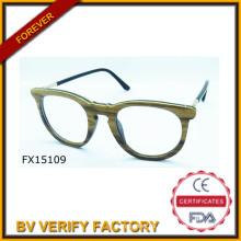 Comercial garantía 2015 ronda marco de bambú las gafas de sol (FX15109)