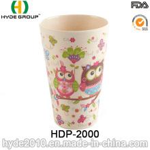 Copo de fibra de bambu Eco Design bonito (HDP-2000)