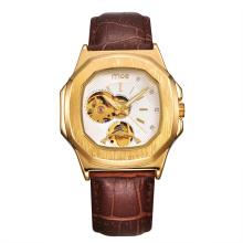 Reloj personalizado con banda de cuero genuino