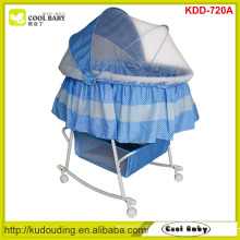 Fabricant NOUVEAU Design Housse de moustiquaire pour papilloteuse Berceau pour enfant à bascule portatif Grand panier de rangement Berceau pour bébé