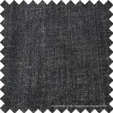 Schwarzer Baumwollspandex Polyester-Denim-Stoff von hoher Qualität