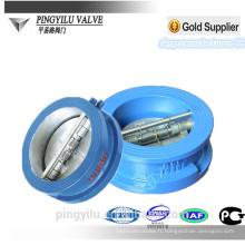 Grey fer de l'eau de la plaquette double plaque de clapet anti-retour hydraulique à ressort chargé papillon fixé valve de contrôle prix pour drain Chine fournisseur