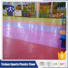 YC-Spitzenfertigung PVC-Boden feuerfesten PVCs rollt Innenplastikbodenbelag