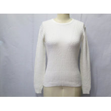 Women Knitwear Pure Color Long-Sleeve Pullover Sweater