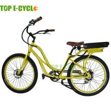 La bicicleta eléctrica más popular del TOP para la bicicleta eléctrica del crucero de playa de la venta hecha en China