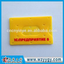 8.7 * 5.5 cm molde plástico tarjetero con logo impreso