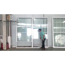 Large high quality top hung window with chemically toughened glass