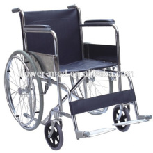Hot Sale Wheel chair ! Standard simple manual wheel chair Shanghai wheel chair with fixed armrest fixed footrest