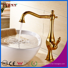 Fyeer Gold Plated Bathroom Vessel Faucet