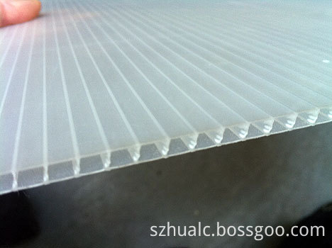 Clear Corrugated Plastic Sheets
