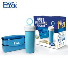 2 capas Eco Friendly PP lonchera con botella de agua