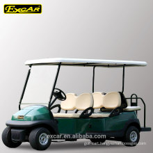 CE approved 4 front seats and 2 foldable rear seats electric golf cart