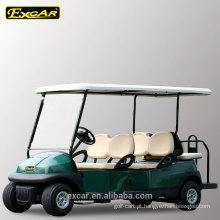 4 lugares da frente mais 2 lugares traseiros barato carrinho de golfe elétrico 48V