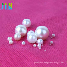 Charm round ABS plastic pearl beads without hole